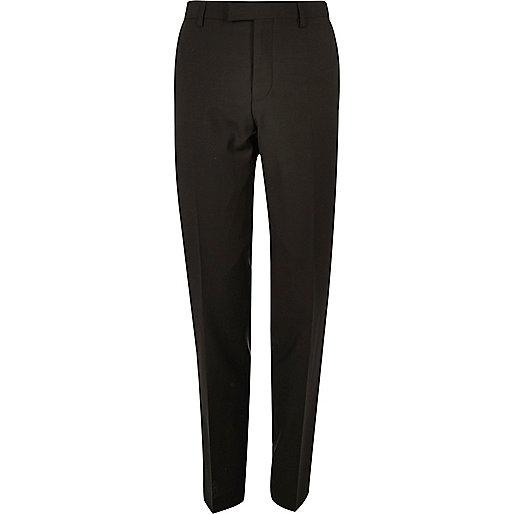 Khaki slim fit suit pants