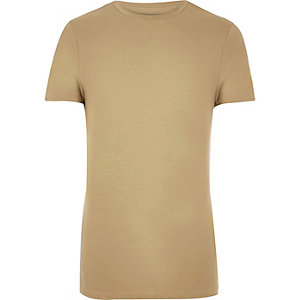 Camel muscle fit T-shirt
