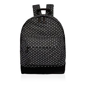 Black spotted denim Mi-Pac backpack