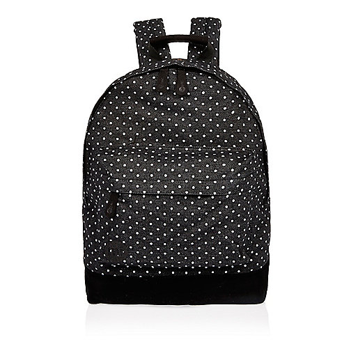 Black spotted denim Mi-Pac backpack