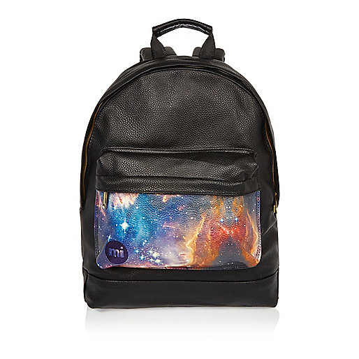 Black Mi-Pac cosmic print backpack