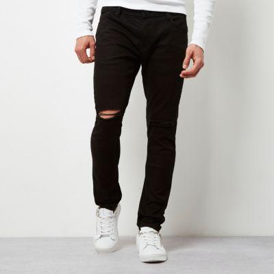 Ripped black skinny jeans men