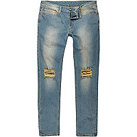 Sid – Jean skinny bleu clair délavé