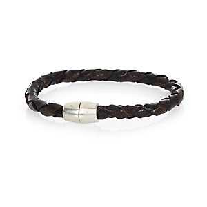 Black plaited magnetic bracelet