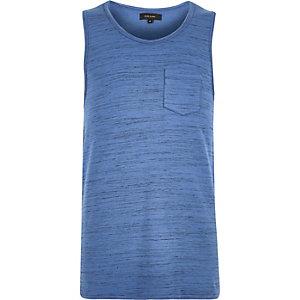 Blue pocket vest