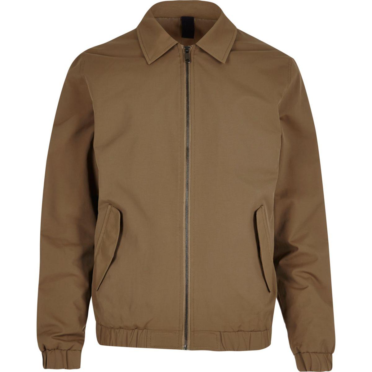 Brown harrington jacket