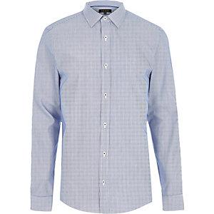 Chemise rayée bleue habillée cintrée