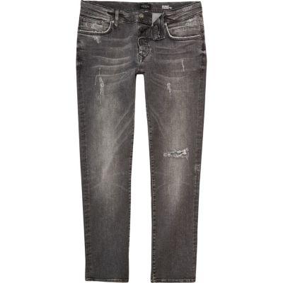 Ronnie grijze skinny smaltoelopende jeans