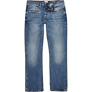 Middenblauwe wash Clint bootcut jeans