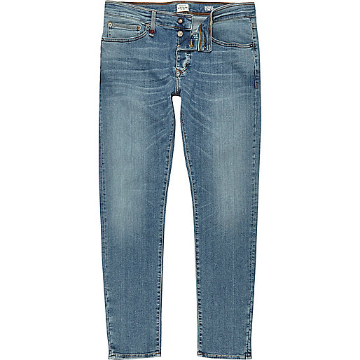 Light blue wash RI Flex Sid skinny jeans