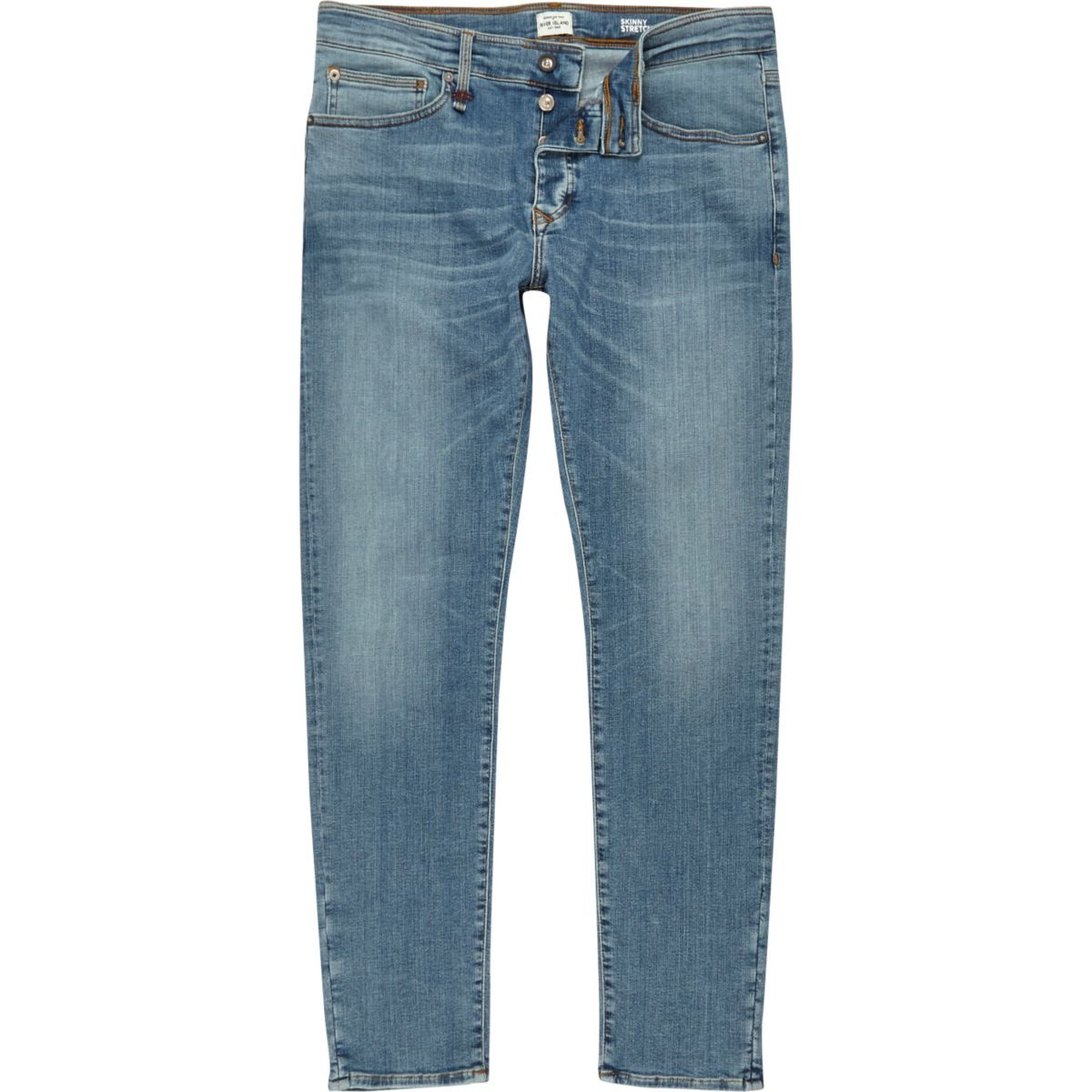 Light blue wash RI Flex Sid skinny jeans