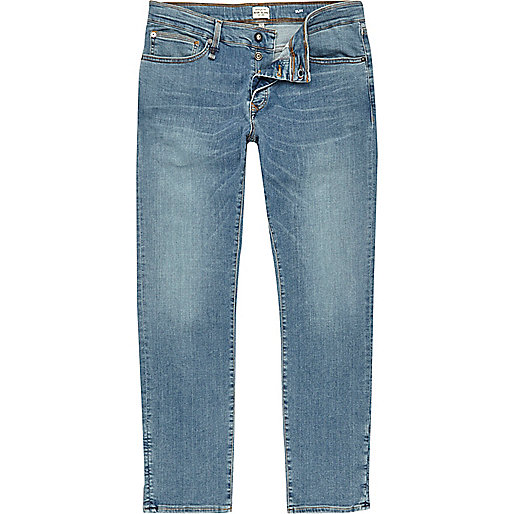 RI Flex – Dylan – Slim Jeans in Hellblau