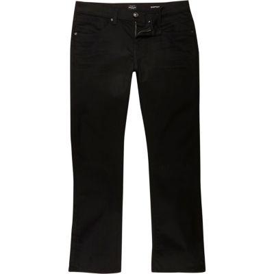 Clint Zwarte bootcut jeans