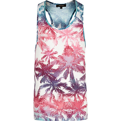 White palm tree vest