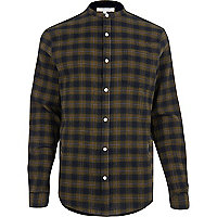 Green check grandad shirt