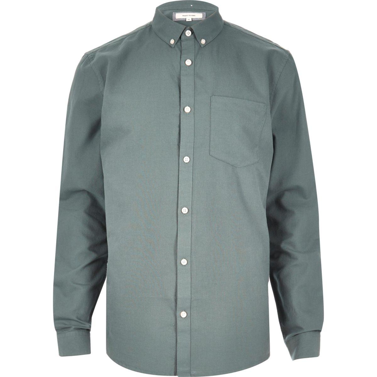 Green Oxford shirt