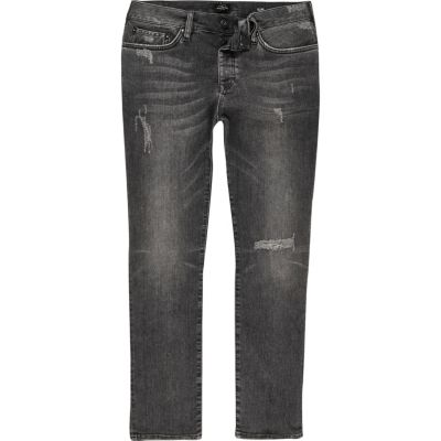 Dylan grijze distressed slim-fit jeans
