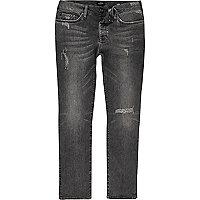 Grey distressed Dylan slim fit jeans