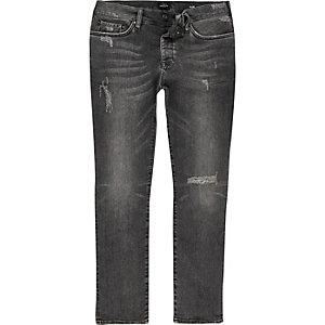 Dylan grijze distressed slim-fit jeans