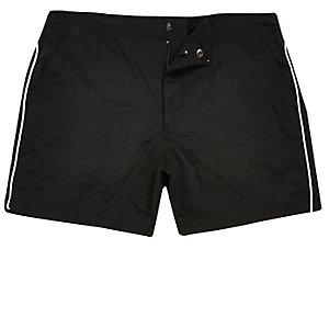 Black side stripe swim trunks