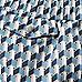 Blue geometric print swim shorts