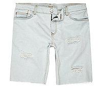 Short en jean usé délavé