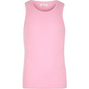 Pink ribbed tank