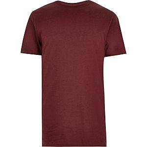 Burgundy longline T-shirt