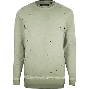 Green Only & Sons nibbled sweatshirt