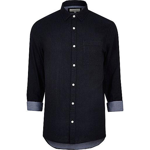 Marineblaues, zweiseitiges Hemd