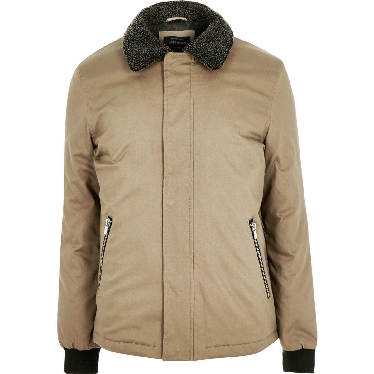 Stone borg collar jacket