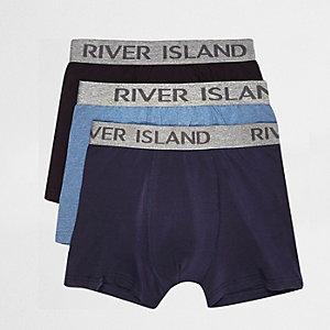 Lots de boxers bleu marine