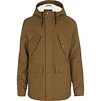 Light brown hooded jacket
