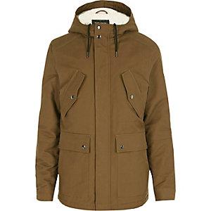 Veste marron clair à capuche