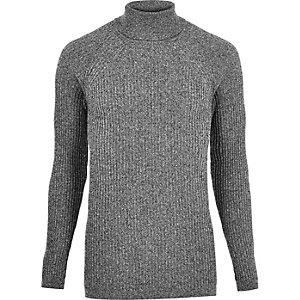 Grijze pullover met col