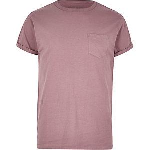T-Shirt mit Tasche in Pink
