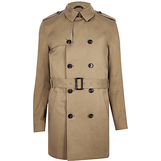 Brown traditional water resistant mac - Coats / Jackets - Sale - men