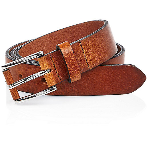 Light brown buffalo belt