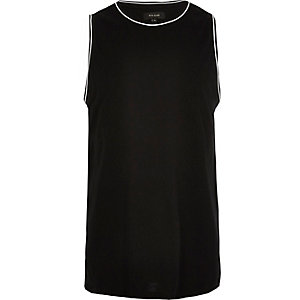 Black ringer neck tank top