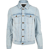 Light blue bleach denim jacket
