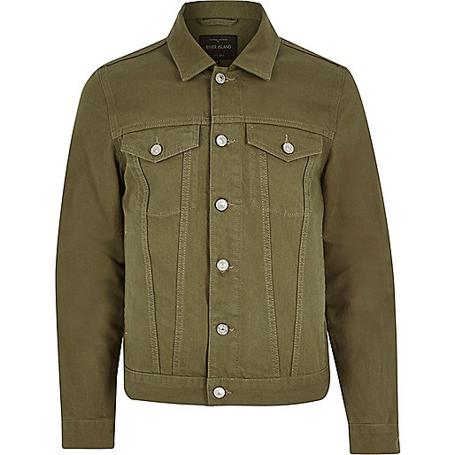 Dark green denim jacket - coats / jackets - sale - men