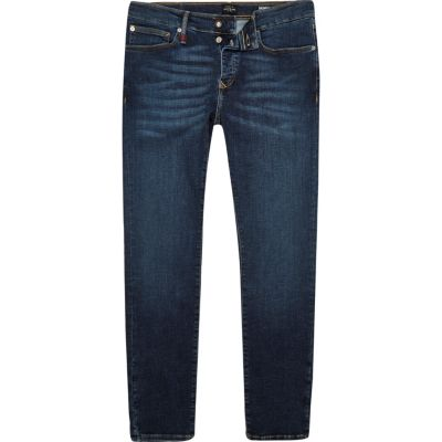RI Flex Sid donkerblauwe skinny jeans