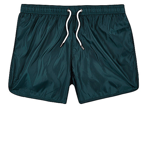 Turquoise runner swim shorts