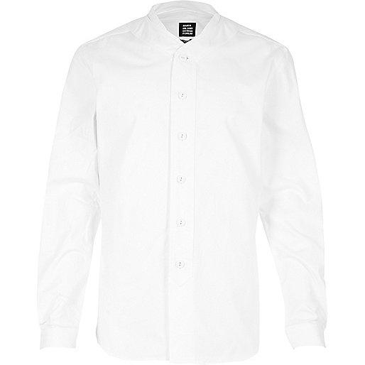 White YMC baseball shirt
