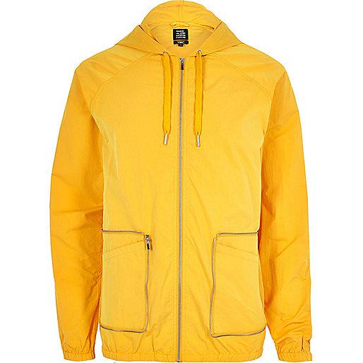Yellow YMC packaway hooded jacket
