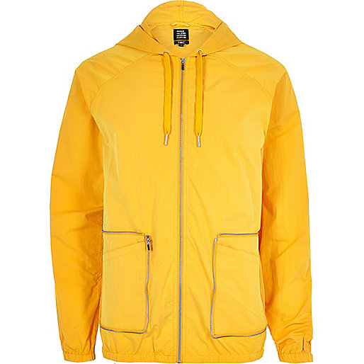 Yellow YMC packaway hooded jacket