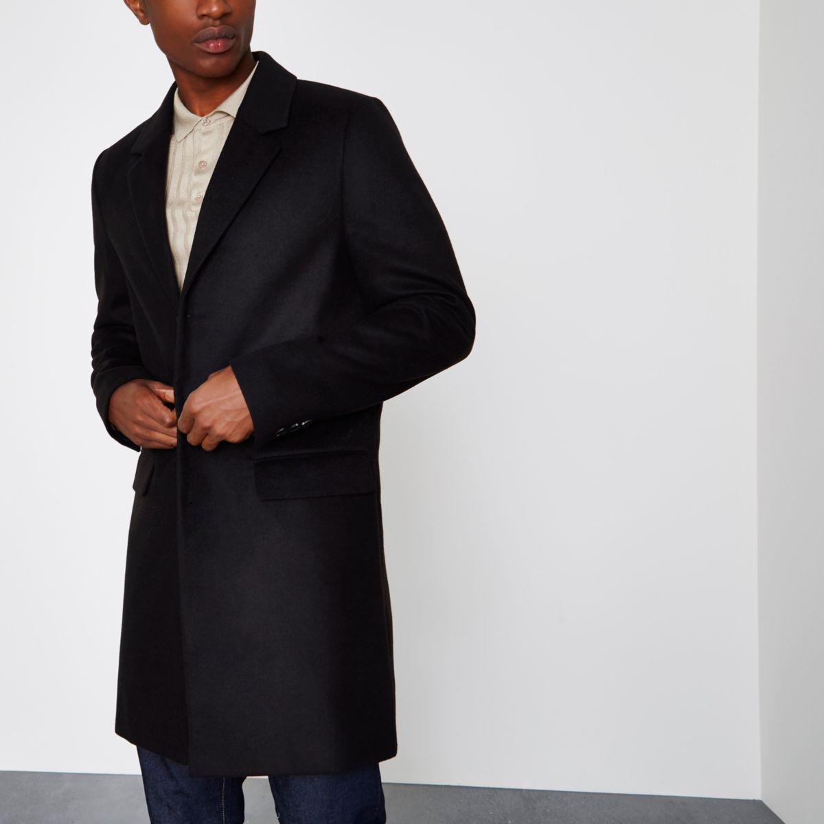 Eleganter, klassischer Mantel in Schwarz