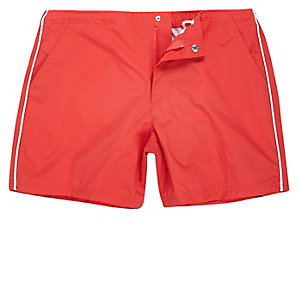 Orange side stripe swim trunks