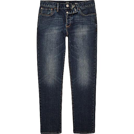 Dylan – Slim Jeans in dunkler Vintage-Waschung