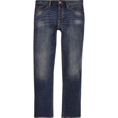 Spencer blauwe vintage jeans met rechte pijpen